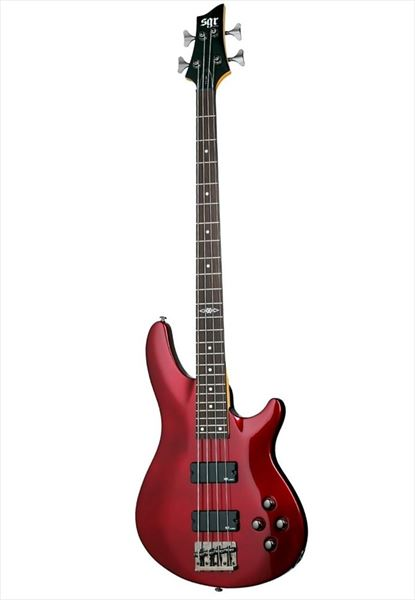 SCHECTER SGR C-4 BASS METALLIC RED MRED